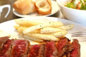 肉バル EG 袋町店でがっつりステーキランチ