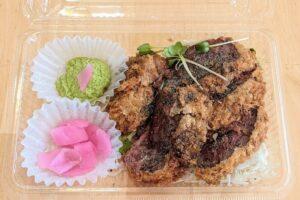 牛かつ黒べこ 広島中央店 ミディアムレアの牛カツランチ